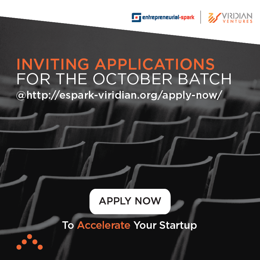 Accelerate your business. Applications open for Espark-Viridian Accelerator's October 2016 Cohort