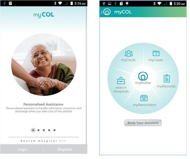 myCOL App Snapshot