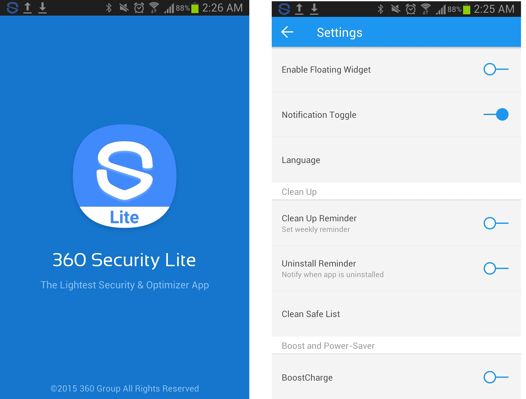 Key Features – 360 Security Lite