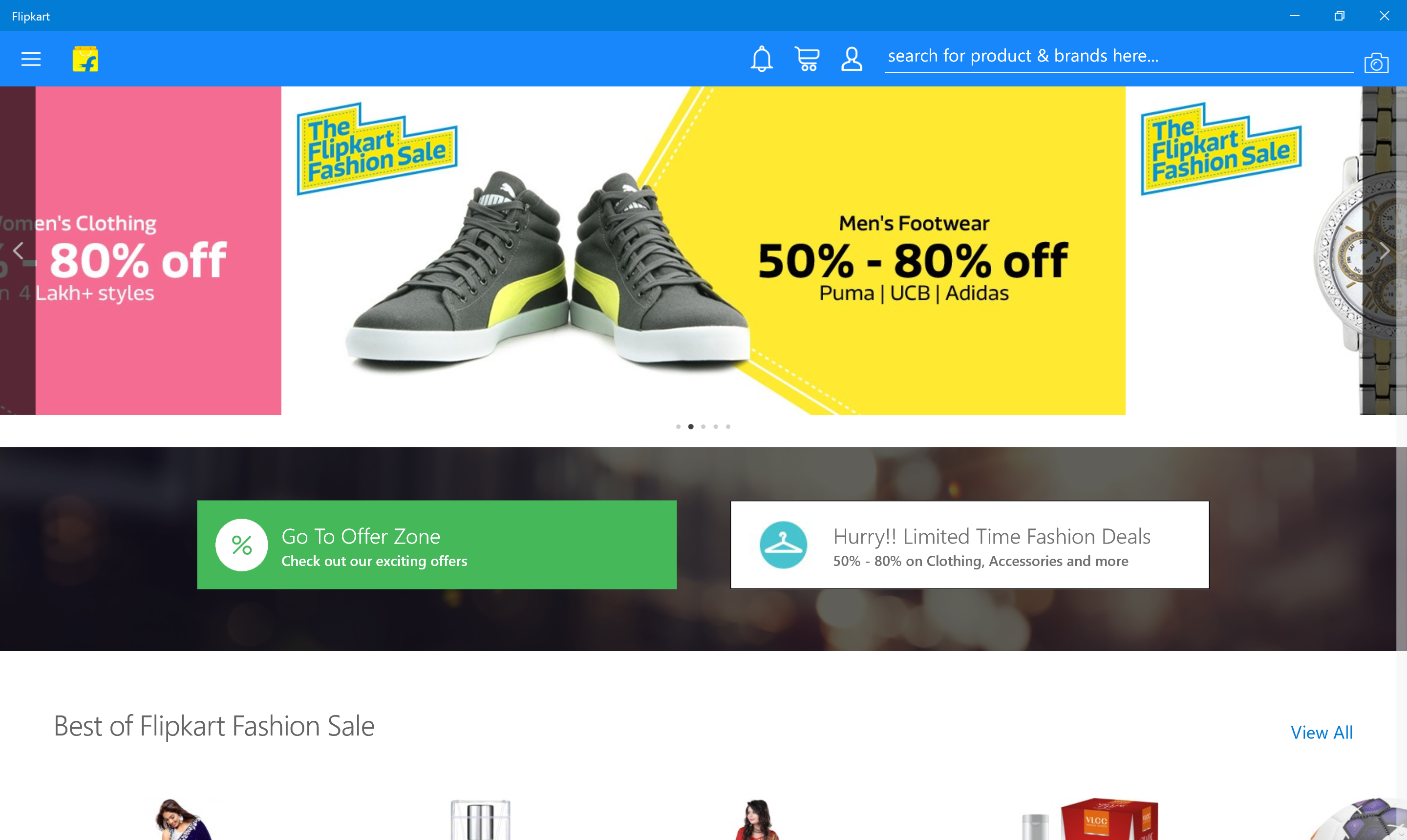 Flipkart launches for Windows 10, takes the online shopping ...