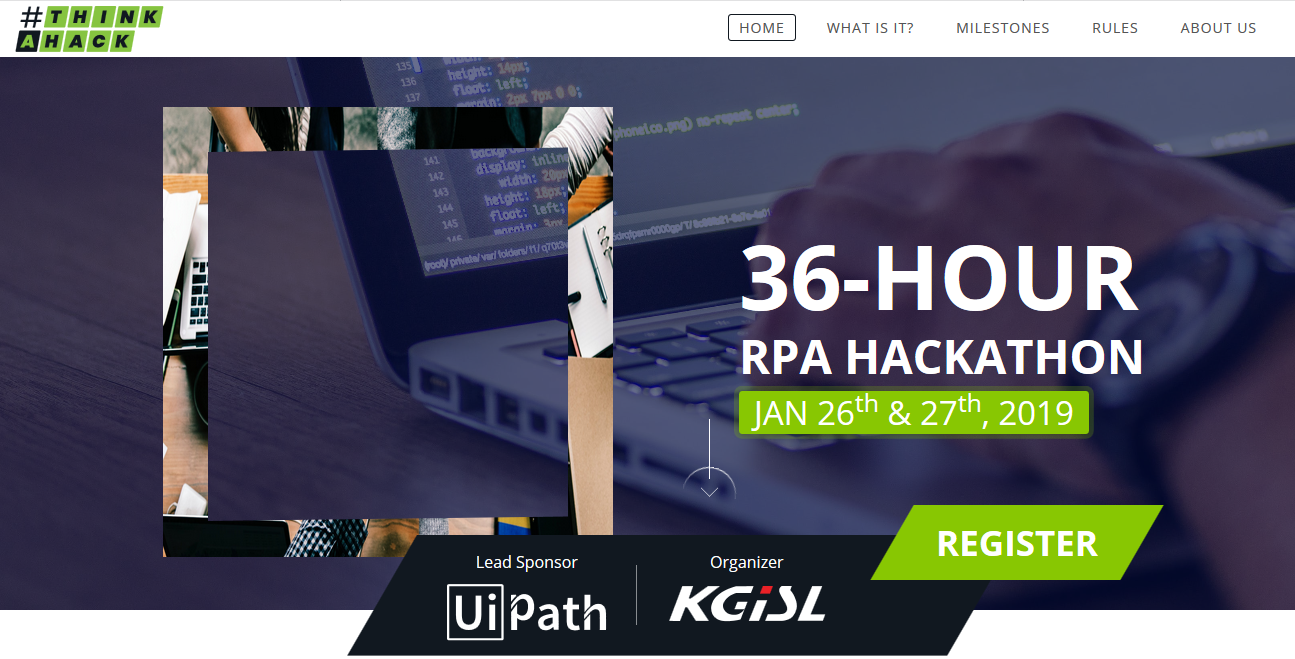 UiPath & KGiSL to jointly organize 'ThinkAHack', a Hackathon